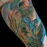 фото тату носорог от 29.09.2017 №090 - rhino tattoo - tatufoto.com