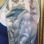фото тату носорог от 29.09.2017 №091 - rhino tattoo - tatufoto.com