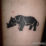 фото тату носорог от 29.09.2017 №092 - rhino tattoo - tatufoto.com
