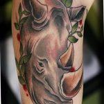 фото тату носорог от 29.09.2017 №101 - rhino tattoo - tatufoto.com