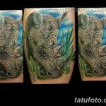 фото тату носорог от 29.09.2017 №103 - rhino tattoo - tatufoto.com