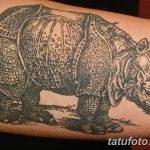 фото тату носорог от 29.09.2017 №107 - rhino tattoo - tatufoto.com
