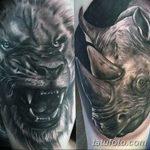 фото тату носорог от 29.09.2017 №118 - rhino tattoo - tatufoto.com