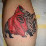 фото тату носорог от 29.09.2017 №122 - rhino tattoo - tatufoto.com