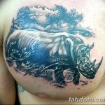 фото тату носорог от 29.09.2017 №125 - rhino tattoo - tatufoto.com