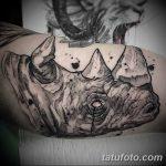 фото тату носорог от 29.09.2017 №134 - rhino tattoo - tatufoto.com