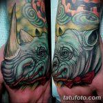 фото тату носорог от 29.09.2017 №140 - rhino tattoo - tatufoto.com