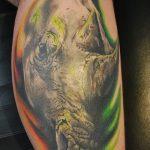 фото тату носорог от 29.09.2017 №141 - rhino tattoo - tatufoto.com