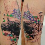 фото тату носорог от 29.09.2017 №145 - rhino tattoo - tatufoto.com