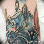 фото тату носорог от 29.09.2017 №147 - rhino tattoo - tatufoto.com