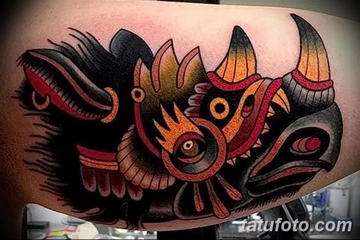 фото тату носорог от 29.09.2017 №155 - rhino tattoo - tatufoto.com