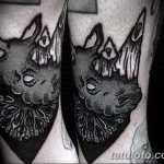 фото тату носорог от 29.09.2017 №157 - rhino tattoo - tatufoto.com