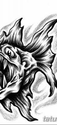 фото тату пиранья от 15.09.2017 №011 – tattoo piranha – tatufoto.com