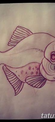 фото тату пиранья от 15.09.2017 №018 – tattoo piranha – tatufoto.com