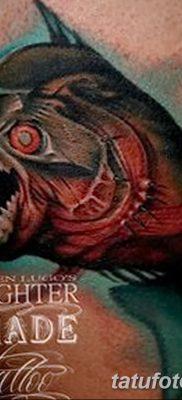 фото тату пиранья от 15.09.2017 №035 – tattoo piranha – tatufoto.com