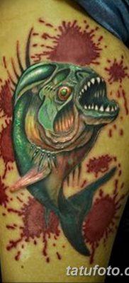 фото тату пиранья от 15.09.2017 №037 – tattoo piranha – tatufoto.com