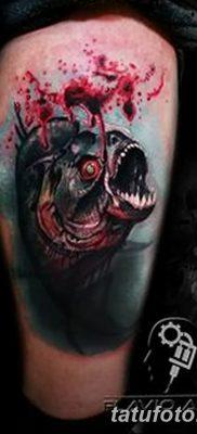 фото тату пиранья от 15.09.2017 №040 – tattoo piranha – tatufoto.com