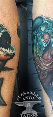 фото тату пиранья от 15.09.2017 №041 – tattoo piranha – tatufoto.com
