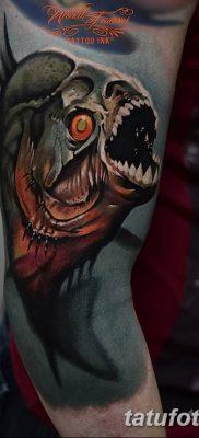фото тату пиранья от 15.09.2017 №043 – tattoo piranha – tatufoto.com