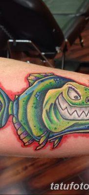 фото тату пиранья от 15.09.2017 №046 – tattoo piranha – tatufoto.com