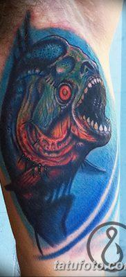 фото тату пиранья от 15.09.2017 №058 – tattoo piranha – tatufoto.com