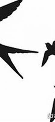 фото тату три ласточки от 24.09.2017 №006 – three swallow tattoos – tatufoto.com