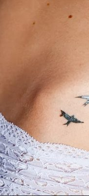 фото тату три ласточки от 24.09.2017 №029 – three swallow tattoos – tatufoto.com