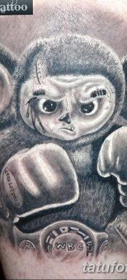 фото тату чебурашка от 08.09.2017 №002 – пример рисунка для статьи – tatufoto.com