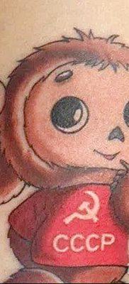 фото тату чебурашка от 08.09.2017 №019 – пример рисунка для статьи – tatufoto.com