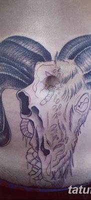 фото тату череп козы от 20.09.2017 №003 – goat skull tattoo – tatufoto.com