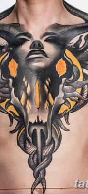 фото тату череп козы от 20.09.2017 №007 – goat skull tattoo – tatufoto.com