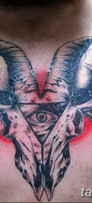 фото тату череп козы от 20.09.2017 №009 – goat skull tattoo – tatufoto.com