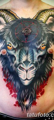 фото тату череп козы от 20.09.2017 №014 – goat skull tattoo – tatufoto.com