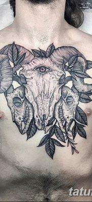 фото тату череп козы от 20.09.2017 №022 – goat skull tattoo – tatufoto.com