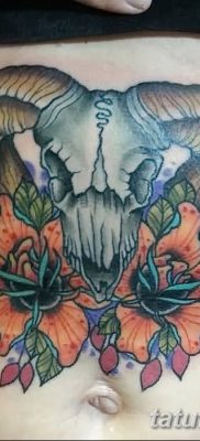 фото тату череп козы от 20.09.2017 №027 – goat skull tattoo – tatufoto.com