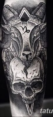 фото тату череп козы от 20.09.2017 №035 – goat skull tattoo – tatufoto.com