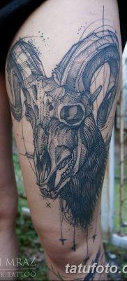 фото тату череп козы от 20.09.2017 №040 – goat skull tattoo – tatufoto.com