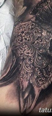 фото тату череп козы от 20.09.2017 №048 – goat skull tattoo – tatufoto.com