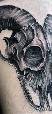 фото тату череп козы от 20.09.2017 №049 – goat skull tattoo – tatufoto.com