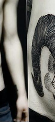 фото тату череп козы от 20.09.2017 №057 – goat skull tattoo – tatufoto.com