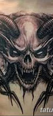 фото тату череп козы от 20.09.2017 №066 – goat skull tattoo – tatufoto.com
