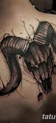 фото тату череп козы от 20.09.2017 №071 – goat skull tattoo – tatufoto.com