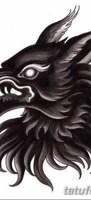 фото тату черный волк от 13.09.2017 №007 – black wolf tattoo – tatufoto.com