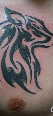 фото тату черный волк от 13.09.2017 №009 – black wolf tattoo – tatufoto.com