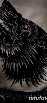 фото тату черный волк от 13.09.2017 №010 – black wolf tattoo – tatufoto.com