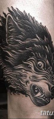 фото тату черный волк от 13.09.2017 №011 – black wolf tattoo – tatufoto.com