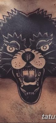 фото тату черный волк от 13.09.2017 №016 – black wolf tattoo – tatufoto.com