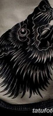 фото тату черный волк от 13.09.2017 №018 – black wolf tattoo – tatufoto.com