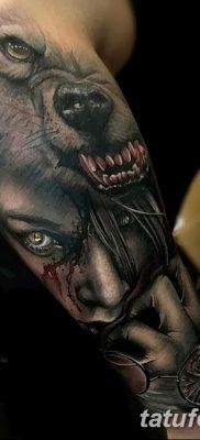 фото тату черный волк от 13.09.2017 №020 – black wolf tattoo – tatufoto.com