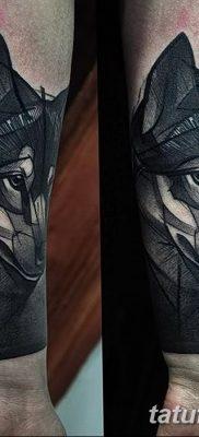фото тату черный волк от 13.09.2017 №021 – black wolf tattoo – tatufoto.com